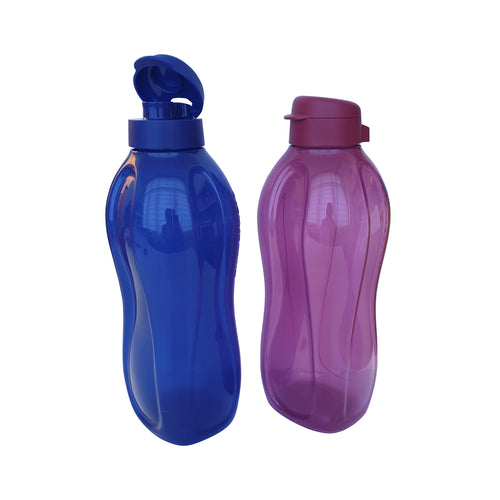 Tupperware Giant Eco Drinking Bottle (Blue& Violet) 2.0L with Handle