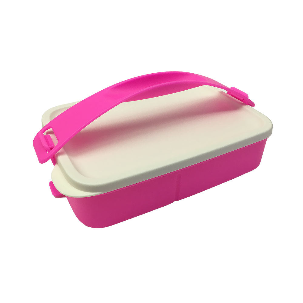 Tupperware Click To Go Lunch Box - Neon Pink