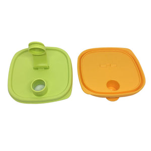 Tupperware Smiley Fridge Bottles 2.0L Set - Green / Yellow
