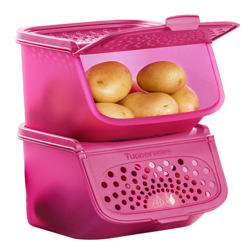 Tupperware Garlic N All Keeper Pink Set 2.3L x 2 units