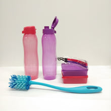 Load image into Gallery viewer, Tupperware Slim Eco Bottle with Square Away Set with Freebies