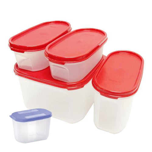 Tupperware Modular Mates Starter Set - Red with Extra Lids & Freebies