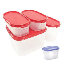 Load image into Gallery viewer, Tupperware Modular Mates Starter Set - Red with Extra Lids & Freebies