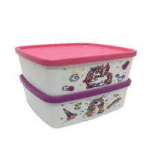 Load image into Gallery viewer, Tupperware Unicorn Snack Box
