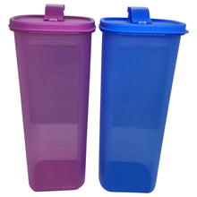 Load image into Gallery viewer, Tupperware Smiley Fridge Bottles 2.0L Set - Blue / Purple