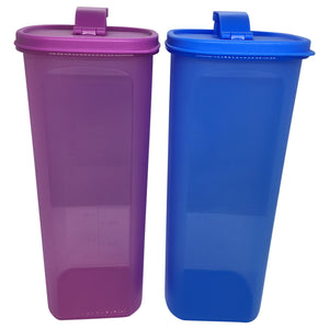 Tupperware Smiley Fridge Bottles 2.0L Set - Blue / Purple