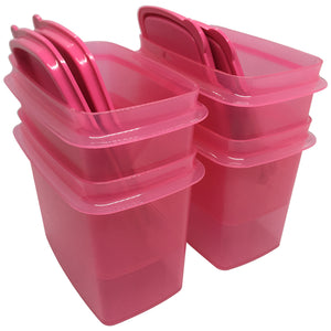 Tupperware Shelf Saver With Spoon - Pink