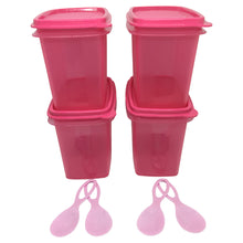 Load image into Gallery viewer, Tupperware Shelf Saver With Spoon - Pink