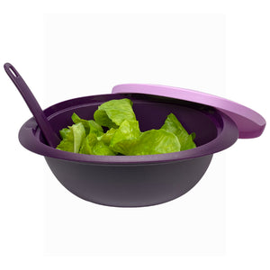 Tupperware Purple Royale Microwaveable Rice Server With Spoon