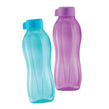 Load image into Gallery viewer, Tupperware Eco Drinking Bottles 750ml Screw Top (Purple & Cyan)