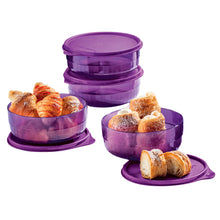 Load image into Gallery viewer, Tupperware Purple Crystal Preludio Bowls