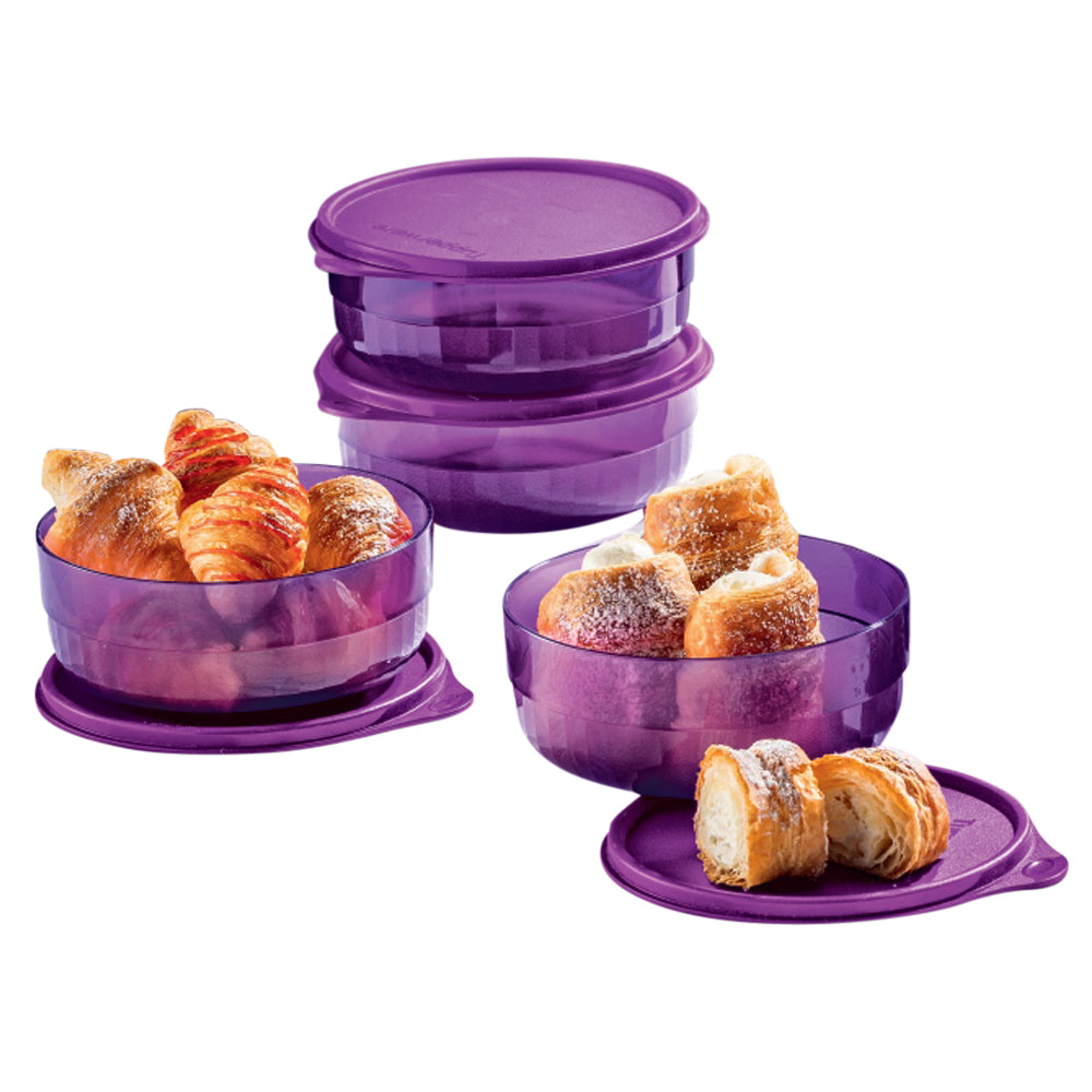 Tupperware Purple Crystal Preludio Bowls