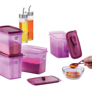 Tupperware Shelf Saver With Spoon
