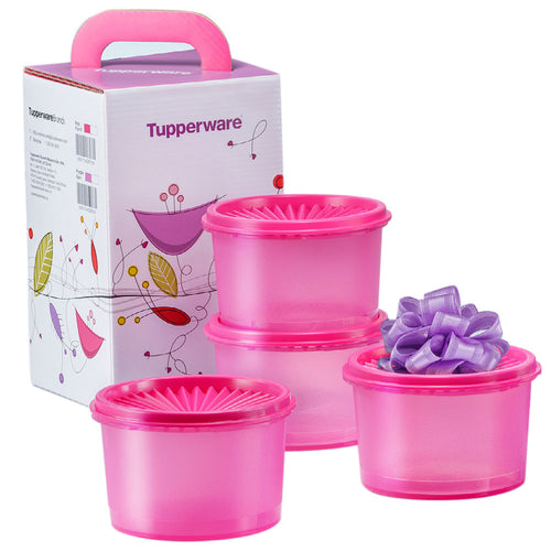Tupperware Mini Deco Canister - Pink