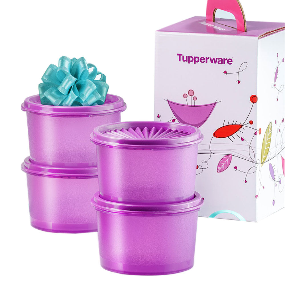 Tupperware Mini Deco Canister - Violet