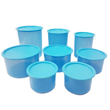 Load image into Gallery viewer, Tupperware Ocean Blue One Touch Set