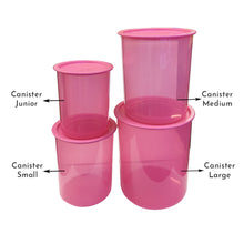 Load image into Gallery viewer, Tupperware One Touch Canister Medium Pink