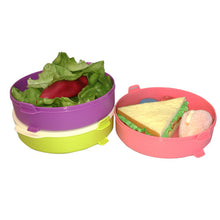 Load image into Gallery viewer, Tupperware Microweavable Round Click To Go Lunch Box - 3 Levels