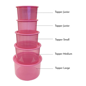 Tupperware One Touch Topper Medium Pink