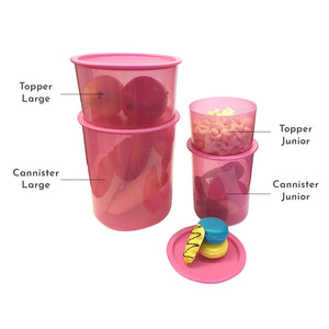 Tupperware One Touch Toppers Junior Pink