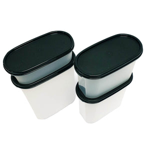 Tupperware Modular Mates Black Oval Set-Tupperware 4 Sale