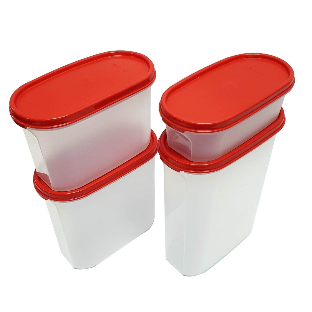 Tupperware Modular Mates Red Oval Set-Tupperware 4 Sale