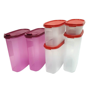 Tupperware Modular Mates Red Oval Set Combo-Tupperware 4 Sale