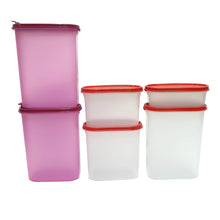 Load image into Gallery viewer, Tupperware Modular Mates Red Oval Set Combo-Tupperware 4 Sale
