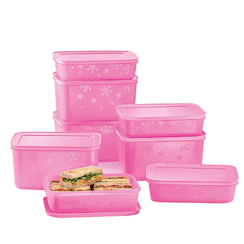 Tupperware 2 In 1 Chill Freez Medium Set - Pink Frosting