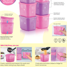 Load image into Gallery viewer, Tupperware 2 In 1 Chill Freez Set - Purple Daisy