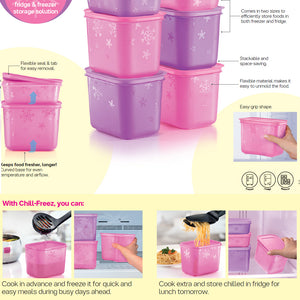Tupperware 2 In 1 Chill Freez Set - Pink Frosting