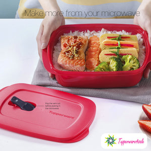 Tupperware Reheatable Crystalwave Rect Lunch Box