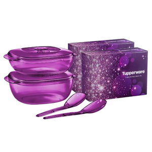 Tupperware Purple Royale Crystalline Set