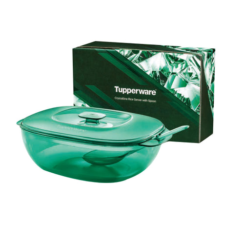 Tupperware Crystalline Rice Server with Spoon