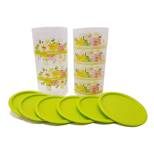 Tupperware Lucky Floral Airtight One Touch Set