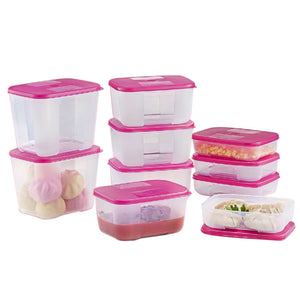 Tupperware FreezerMate Essential Small Set - Pink