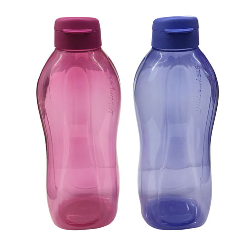 Tupperware Giant Eco Drinking Bottle (Blue& Violet) 2.0L