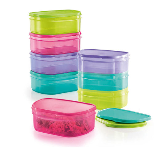 Tupperware Half Fridge Stackable Set