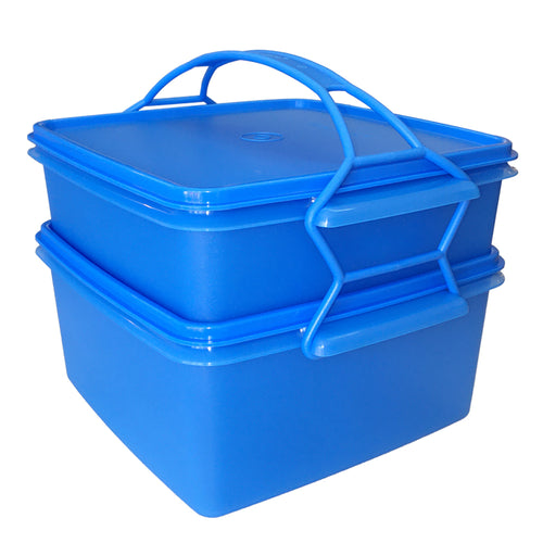 Tupperware Jumbo Goody Box with Carolier - Blue