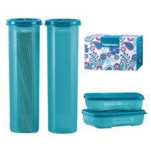 Load image into Gallery viewer, Tupperware Modular Mates Essential Set - Sea Blue With Freebies