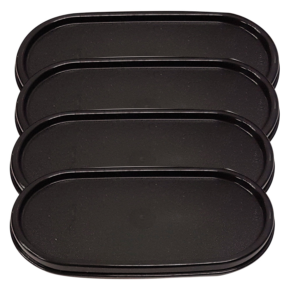 Tupperware Modular Mates Black Oval Replacement Lids
