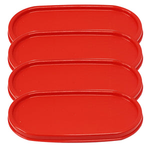 Tupperware Modular Mates Red Oval Replacement Lids