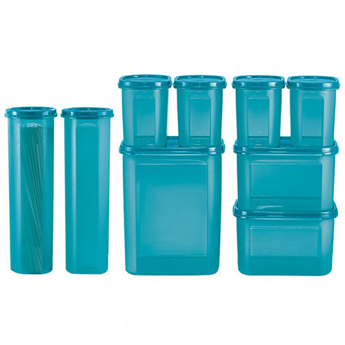 Tupperware Modular Mates Essential Set - Sea Blue With Freebies