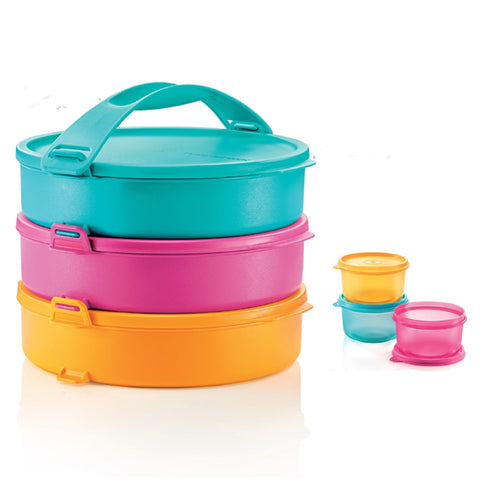 Tupperware Round Click To Go Picnic Set + Freebies