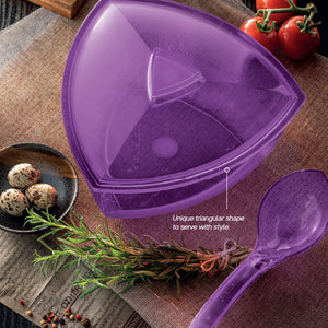 Tupperware Purple Clear Roza Bowl 2.2L With Ladle