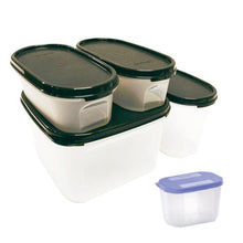 Load image into Gallery viewer, Tupperware Modular Mates Starter Set - Black with Extra Lids & Freebies