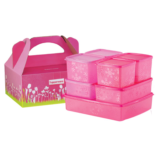 Tupperware Limited Edition Pink Snowflakes Gift Set For Chiller