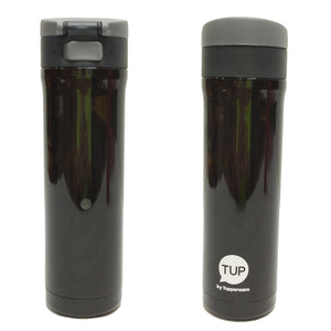 Tupperware Flip N Sip Thermos (Black) With Freebies-Tupperware 4 Sale