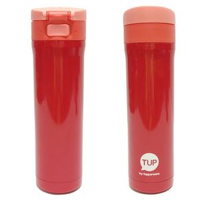 Tupperware Flip N Sip Thermos (Red) With Freebies