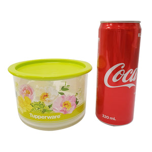 Tupperware Floral Airtight One Touch Topper Junior